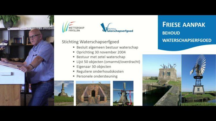 Inspiratiedag Erfgoed | P08 – De Friese aanpak – Gerard Bouma (Wetterskip Fryslân)